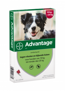 Advantage hond 250  2 x 4 pipetten