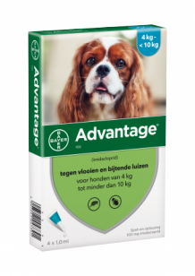 Advantage hond 100 mg 4 pipetten